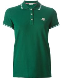 Moncler Classic Polo Shirt - Lyst