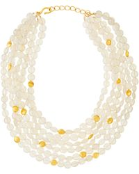 Dina Mackney - Pearlescent Moonstone Multi-strand Necklace - Lyst