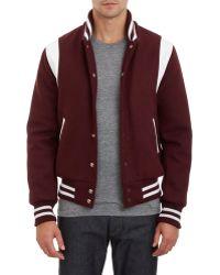 Golden Bear Leather-Trim Varsity Jacket - Lyst