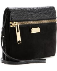 Burberry - Balmoral Leather And Suede Shoulder Bag - Lyst