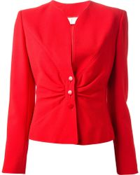 Valentino Vintage Ruched Jacket - Lyst