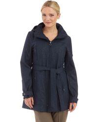 Calvin Klein Embossed Belted Jacket - Lyst