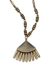Giles & Brother Antiqued Fringe Pendant Necklace - Lyst