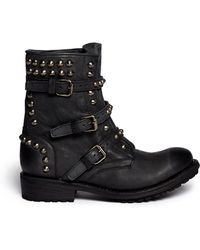 Ash 'Reese' Stud Leather Boots - Lyst