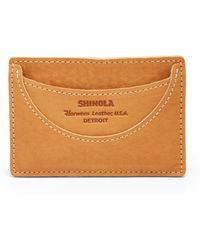 Shinola Leather Card Case - Lyst