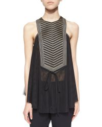 Sass & Bide Life Forced Embellished Trapeze Top - Lyst