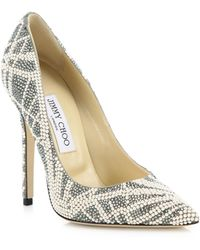 Jimmy Choo | Anouk Embellished Suede Pumps | Lyst
