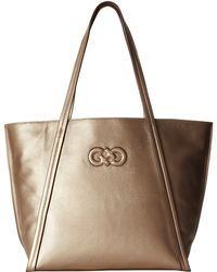 Cole Haan Gold Camlin Tote - Lyst
