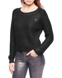 True Religion Coated Shrunken Womens Sweater - Lyst