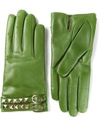 Valentino Rockstud Gloves - Lyst