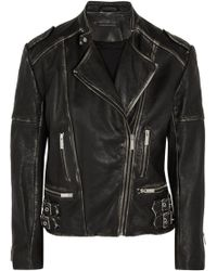 Christopher Kane Faded Leather Jacket - Lyst