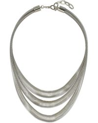 Topshop Triple Row Spring Necklace - Lyst