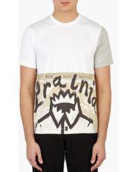 Comme des Garçons   White Printed Cotton T-shirt   Lyst