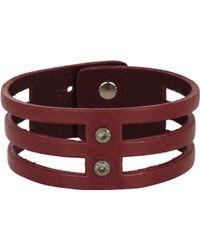 Isabel Marant Leather Parade 3 Row Bracelet - Lyst