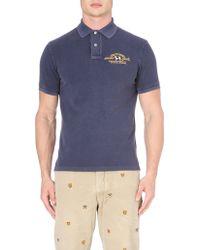 Ralph Lauren Fade Wash Polo Shirt Navy - Lyst