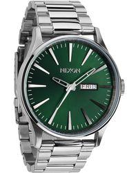 Nixon - Men's The Sentry Stainless Steel Bracelet Strap Watch - Lyst