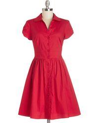 ModCloth Summer School Cool Dress red - Lyst