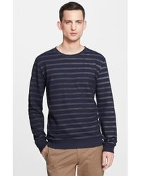 A.P.C. Striped Long Sleeve Pullover - Lyst