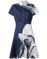 Prabal Gurung Abstract Print Shirt Dress - Lyst
