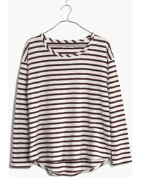 Madewell Setlist Pullover Top In Stripe - Lyst