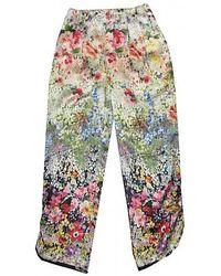 Single Dress Floral Print Pants - Lyst