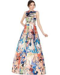 Alice + Olivia Trisha Flare Gown multicolor - Lyst