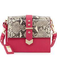 Badgley Mischka Jane Leather Crossbody Bag - Lyst