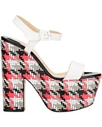 Christian Louboutin Bella Tige Platform Sandals white - Lyst