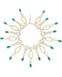 Carole Tanenbaum - Vintage Faux-Pearl And Rhinestone Necklace - Lyst