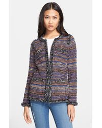 Rachel Zoe 'Henri' Tweed Jacket multicolor - Lyst