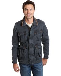 Lucky Brand Ventura Leather Trim Jacket - Lyst