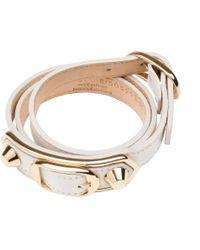 Balenciaga | Classic Metallic Edge Bracelet Triple Tour | Lyst