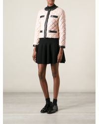 Moschino Cheap & Chic Cropped Quilted Jacket - Lyst