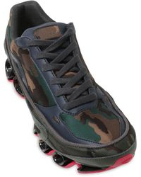 Adidas By Raf Simons Bounce Camouflage Jacquard Sneakers - Lyst
