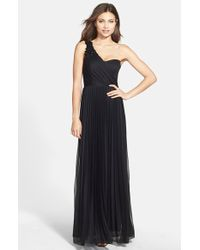 Xscape Embellished One-Shoulder Gown - Lyst
