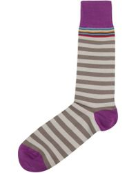 Paul Smith P Stripe Socks - Lyst
