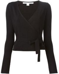 Diane von Furstenberg Tie Wrap Sweater - Lyst