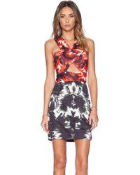 Milly Peekaboo Dress - Lyst