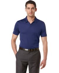 Perry Ellis Openplacket Polo Shirt - Lyst
