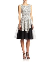 Nha Khanh Joyce Lace Peplum Layered Dress - Lyst