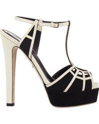 Sergio Rossi - Puzzle Platform Sandals-Black Size 9 - Lyst