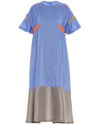 Kolor - Contrast-Panel T-Shirt Dress - Lyst