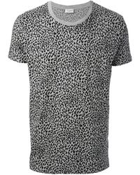 Saint Laurent Gray T-shirt Grigio - Lyst