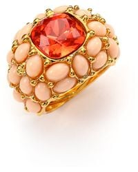 Kenneth Jay Lane Cabochon Cluster Cocktail Ring - Lyst