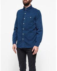 Topman Basket Weave Denim Shirt - Lyst