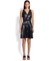 Proenza Schouler Pleated Foil Dress - Lyst