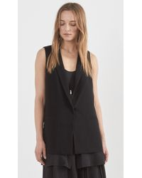 Elizabeth And James Chiffon Double Layer Aster Vest black - Lyst