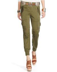 Polo Ralph Lauren Silk Military Cargo Pants - Lyst