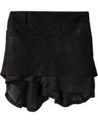 Haider Ackermann 'Stylidium' Skirt black - Lyst