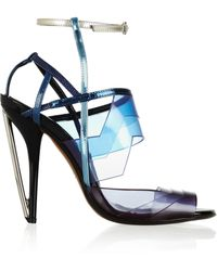 Fendi Leather and Pvc Sandals - Lyst